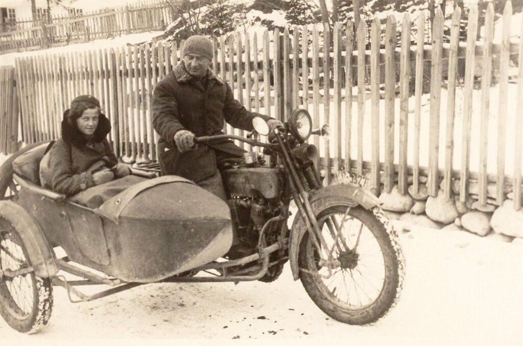 Józef Oppenheim na Harleyu