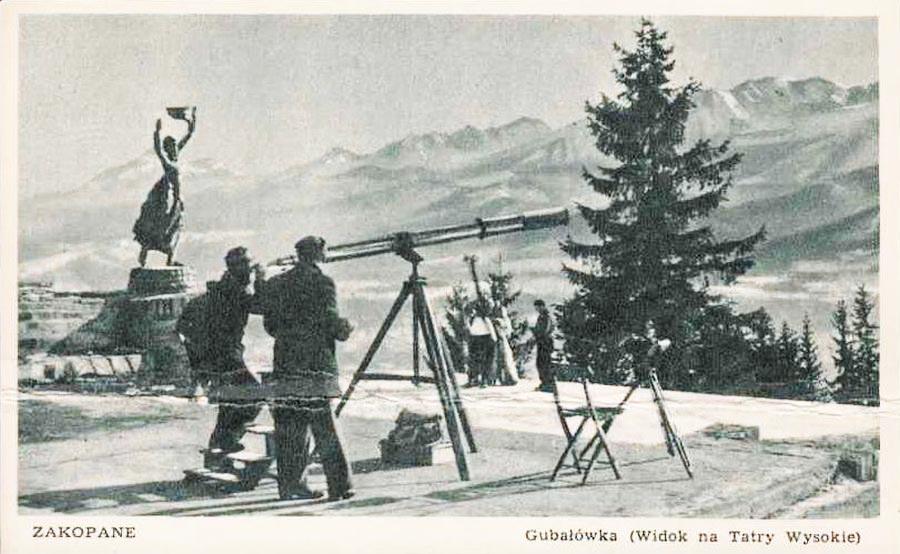 Zakopane - widok na Tatry z Gubalowki