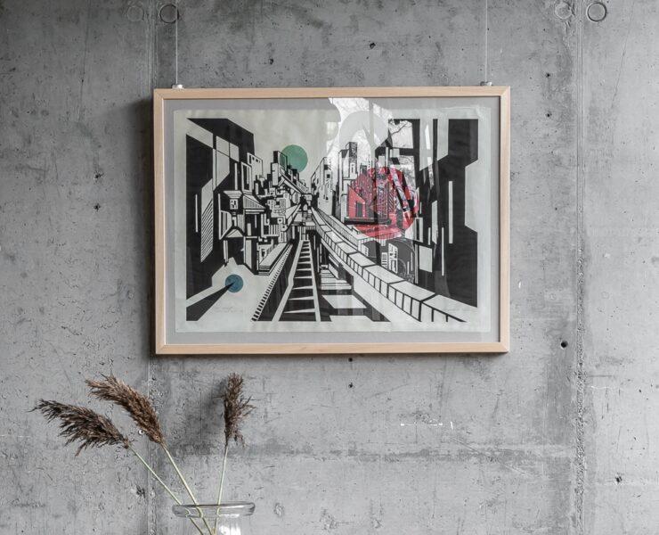 Linoryty Magdaleny Wanar Drobisz na wystawie w STRHu w Zakopanem